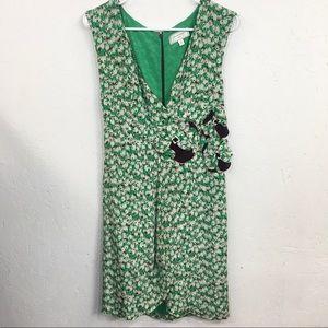 Anthropologie Moulinette Soeurs Silk Floral Dress